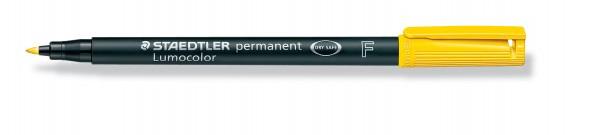 OHP-Stift Lumocolor F permanent gelb 0,6 mm, 10 St./Pack