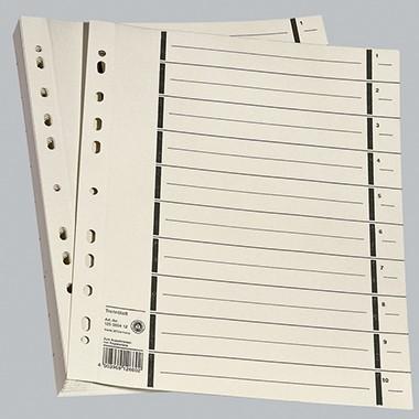 Trennblätter chamios A4 200gr. 100 Stück 1487 Lochrandverstärkt m. schwarz Liniendruck