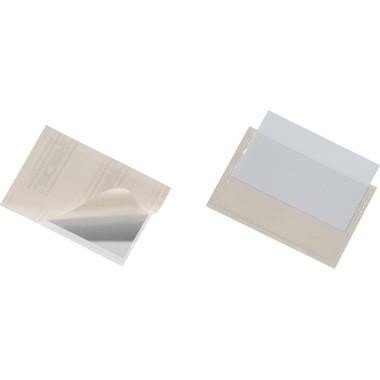 Pocketfix 57x90mm (HxB) oben offen transparent selbstklebend 100 St./Pack