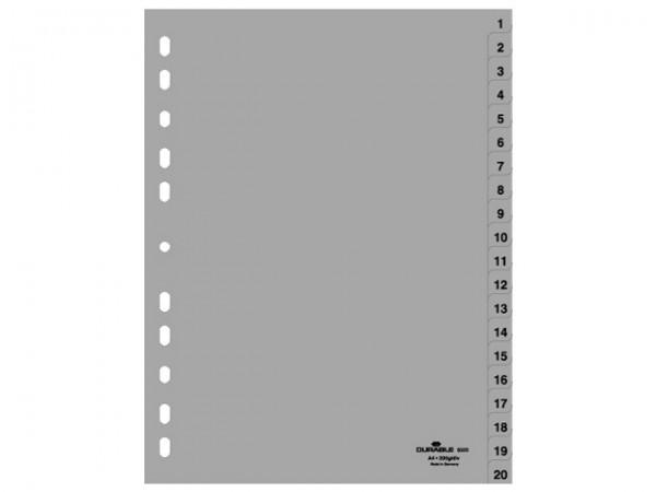 Register A4 1-31 Plastik grau