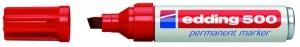 Edding 500 Permanentmarker rot Nr.02 Keilspitze Strichstärke: 2-7 mm 305030430