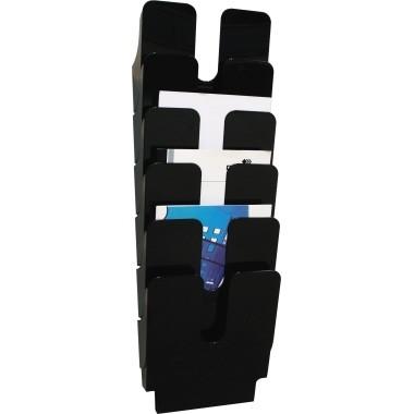 Prospekthalter Durable FLEXIPLUS 6 A4 schwarz 6 Fächer
