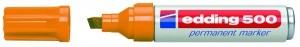 Edding 500 Permanentmarker orange Nr.06 Keilspitze Strichstärke: 2-7 mm Packung 10 Stück