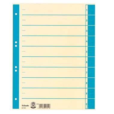 Trennblätter A4 Esselte chamois hellblau 100 St./P mit Linienaufdruck
