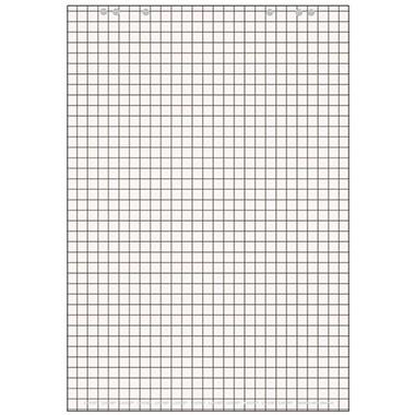 Flipchartblock 68x99cm 80 g/m² Papier kariert weiß (rückseitig) blanko,20 Bl./Block/5 Block/Pack
