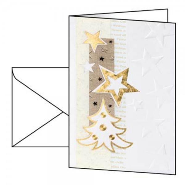 Faltkarten A6 185gr./m² White Christmas 10 Karten inkl. Umschläge , Weihnachtsmotiv