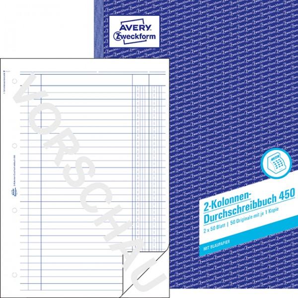 Zwckform 2 Kolonnen Durchschreibebuch 2x50 Blatt **Restposten, begrenzte Menge**