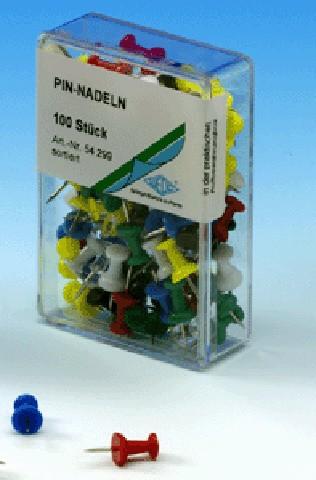 PINNWANDNADELN 100ST. SORTIERT ZYLINDERFORM ALCO 663-26