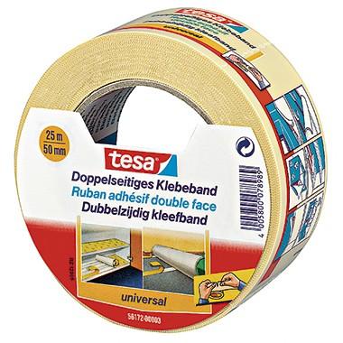 Tesa doppelseitiges Klebeband 25mx50mm weiß reißfest