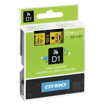 Bänder Dymo 45018 12mmx7m schwarz/gelb D1 S0720580
