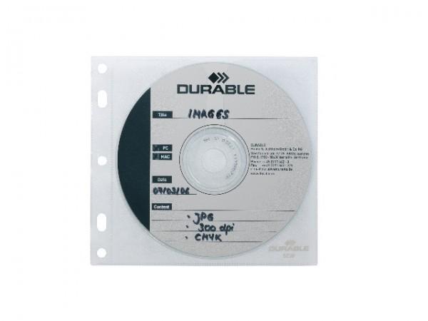 CD-Hüllen f. 1-CD/DVD 10 Stück transparent f. 1 CD/DVD mit Booklet mit Abheftlochung