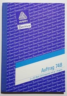 Zweckform Auftrag A6 2X50 Blatt **Restposten,begrenzte Menge**