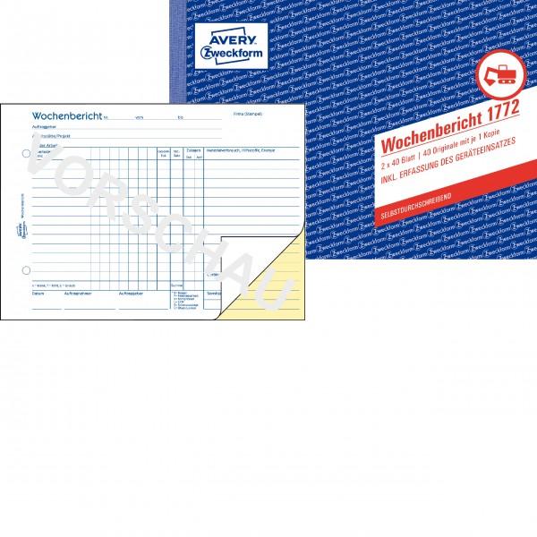Zweckform Wochenbericht A5 2x 40 Blatt SD **Restposten, begrenzte Menge**