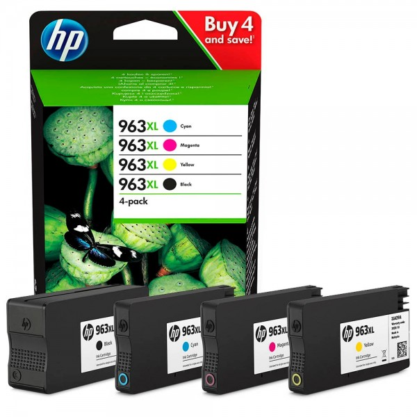 HP Tintenpatrone 963XL Multipack 4 St./Pack schwarz,cyan,magenta,gelb