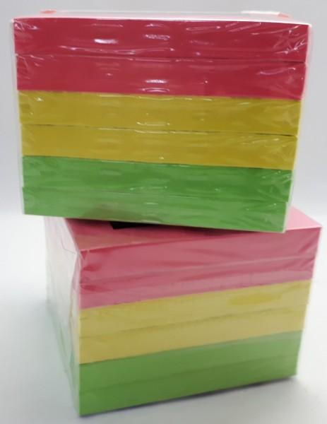 Haftnotiz 76x76mm Laco neon farbig sortiert 100 Blatt, 6 Block/Pack