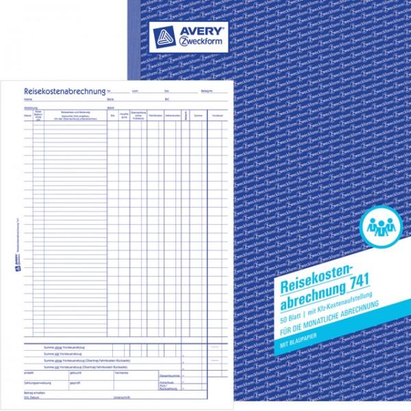 Zweckform Reisekostenabrechnung A4 50 Blatt für monatliche Abrechnung