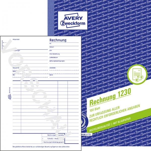Zweckform Rechnung A5 100 Blatt Recycling-Qualität**Restposten, begrenzte Menge **
