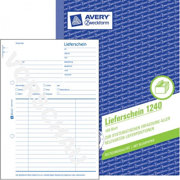 Zweckform Lieferschein A5 100 Blatt Recycling