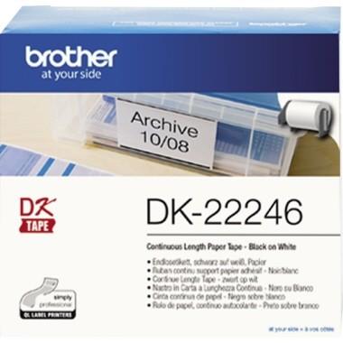 Etiketten 103mm x 30,48m Brother Papier weiss permanent haftend / für QL-1050/-1050N/-1060N