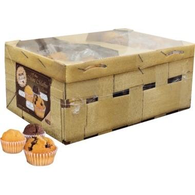 Hellma Muffin Mini 60x14 g/Pack Traditionell, Schokostückchen, Schoko