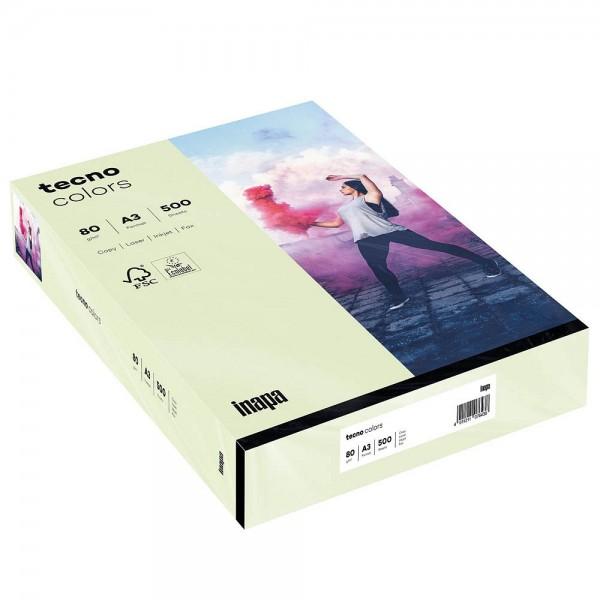 Kopierpap. A3 80g/m² hellgrün 500 Bl./Pack Inapa tecno