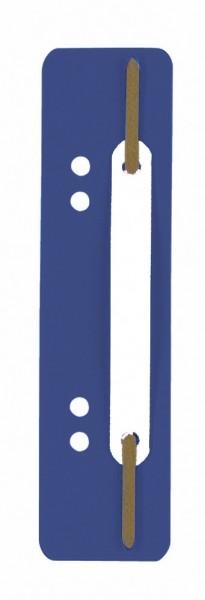 Heftstreifen kurz dunkelblau PP 25 St./Pack Maße:3,4x15cm, Kunststoff-Deckleiste