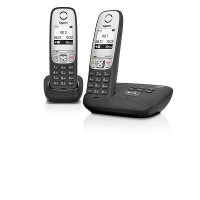 TELEFON SIEMENS GIGASET A415ADUO SCHWARZ SCHNURLOS MIT ANRUFBEANTWORTER