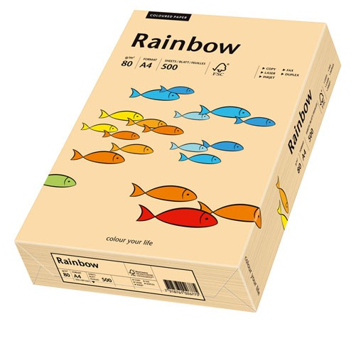 Kopierpap. A4 80g/m² lachs (40) 500 Bl./Pack Skyrainbow / Inapa Colors 2100011406