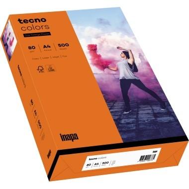 Kopierpap. A4 120g/m² intensivorange 250 Bl./Pack Skyrainbow / Tecno Colors 2100011348