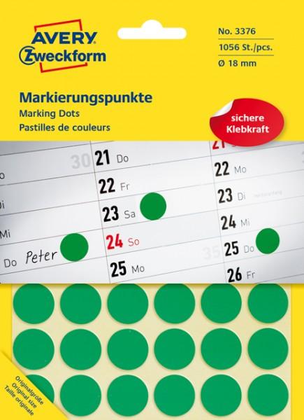 Etiketten 18mm grün 1056 St./Pack Markierungspunkt