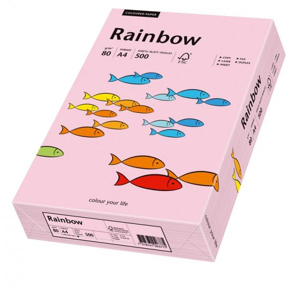 Kopierpap. A4 80g/m² hellrosa (54) Rainbow Color Packung 500 Blatt