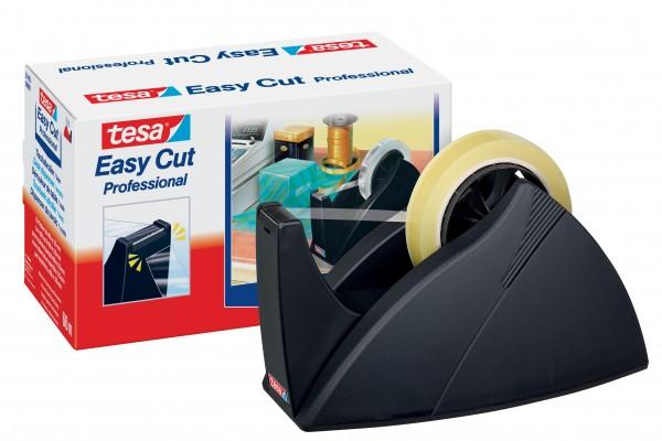 Tischabroller Tesa Easy Cut® Professional schwarz für Rollen 25mmx66 m (B x L), Wellenmesser
