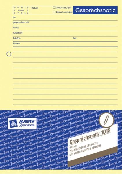 Zweckform Gesprächsnotiz A5 gelb 50 Blatt