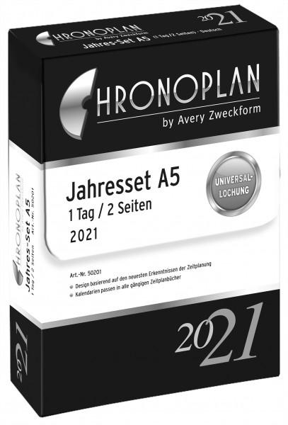 Chronoplan Jahres Set A5 2021