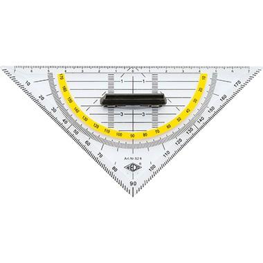 Geometriedreieck 16cm WEDO transparent mit Griff