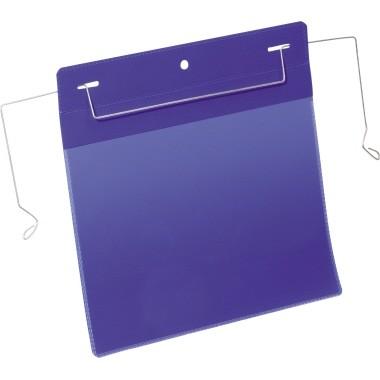 Kennzeichnungstasche A5 quer Drahtbügeleinsatz bl 50 St./Pack