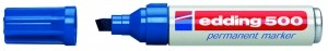 Edding 500 Permanentmarker blau Nr.03 Keilspitze Strichstärke: 2-7 mm 305030450