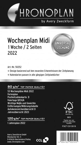 Chronoplan Wochenplan Midi 2022