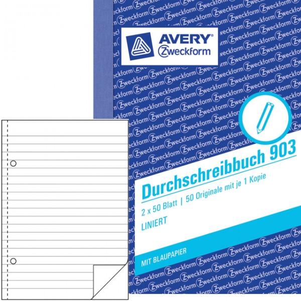 Zweckform Durchschreibebuch A6 liniert 2x50 Bl. Mit Blaupapier