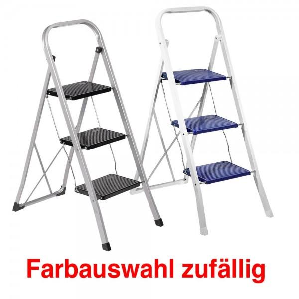 Klapptritt 3 Stufen lackiertes Vierkant-Stahlrohr max. Arbeitshöhe:0,70 m , farbsortiert