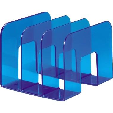 Katalogsammler TREND transluzent blau 3 Fächerunterteilung von 65mm