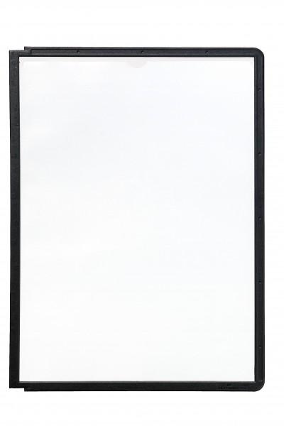 Sichttafel A4 hoch SHERPA Panel schwarz 5 St./Pack