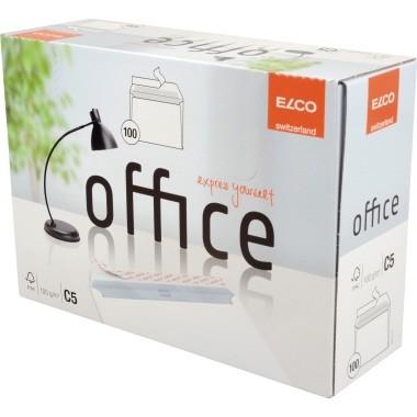 Briefumschlag C5 ELCO Office 80g/qm hochweiß ohne Fenster mit Haftklebung/100 St./Pack