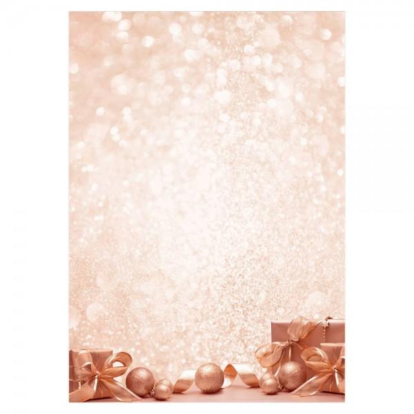 Designpapier A4 90g/m² Golden Dream 100 Bl./Pack , Weihnachtsmotiv