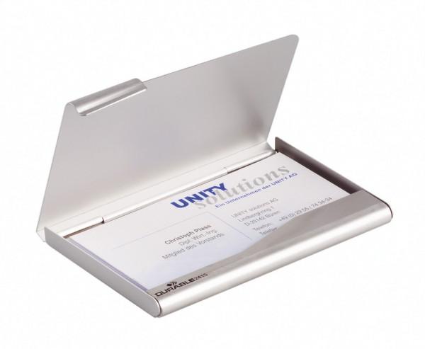 VISITENKARTEN-BOX METALL SILBER F.20 KARTEN FORMAT 57X90CM