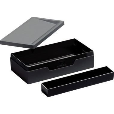 Sammel- u. Transportbox Durable VARICOLOR anthrazit, Stifteschale 2 Fächer