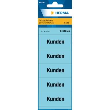 Rüschi Kunden 60x26mm blau 100 St./Pack