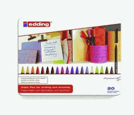 EDDING 1200 20ER SET 0,5-1 mm Blechschachtel Farben