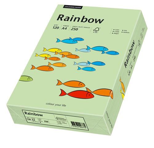 Kopierpap. A4 120g/m² mittelgrün (75) 250 Bl./Pack Skyrainbow Color , inapa tecno