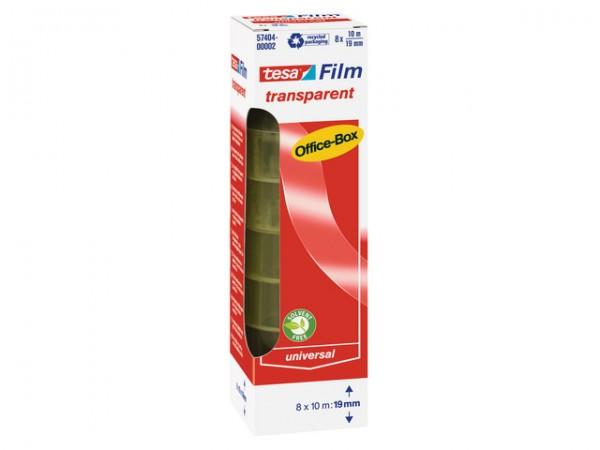 Tesafilm 10mx19mm Office-Box 8 St./Pack transparent